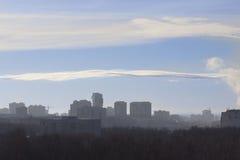 Ciudad, invierno Imagenes de archivo