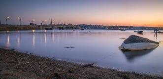 Ciudad Irlanda de Wexford de la puesta del sol Fotografía de archivo