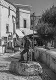 Ciudad Italia de la calle de Matera Fotos de archivo libres de regalías