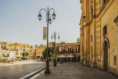 Ciudad Italia de la calle de Matera Foto de archivo libre de regalías
