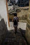 Ciudad Italia de la calle de Matera Imagenes de archivo