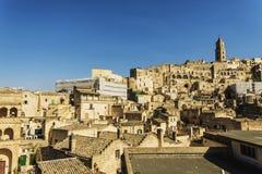 Ciudad Italia de la calle de Matera Fotografía de archivo libre de regalías