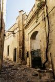 Ciudad Italia de la calle de Matera Foto de archivo
