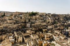 Ciudad Italia de la calle de Matera Fotos de archivo