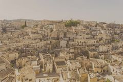 Ciudad Italia de la calle de Matera Imagen de archivo libre de regalías