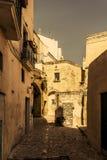 Ciudad Italia de la calle de Matera Imágenes de archivo libres de regalías