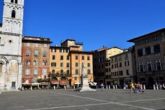 Ciudad Italia de Lucca Imagen de archivo