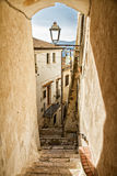 Ciudad italiana de Sperlonga Fotos de archivo