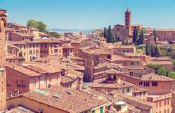 Ciudad italiana desde arriba Imagen de archivo libre de regalías