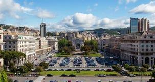 Ciudad italiana Genia, della Vittoria de Arco del timelapse almacen de metraje de vídeo