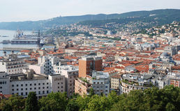 Ciudad italiana Trieste imagen de archivo libre de regalías