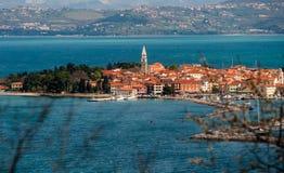 Ciudad Izola, Eslovenia Foto de archivo libre de regalías