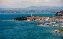 Ciudad Izola, Eslovenia Fotos de archivo libres de regalías