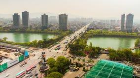 Ciudad Jamsil céntrico de Seul almacen de metraje de vídeo
