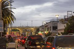 CIUDAD JUAREZ-CHIHUAHUA-MEXICO-JANUARY-2019 : Vue de Santa Fe International Bridge, située sur l'avenue de Juarez photo stock