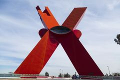 CIUDAD JUAREZ-CHIHUAHUA-MEXIKO-MARCH-2019: Dieses Monument hat einen internen Aufzug lizenzfreie stockfotos