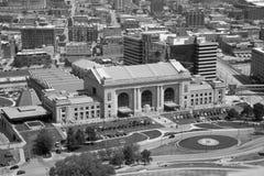 Ciudad Kansas Missouri Cercano oeste los E.E.U.U. blanco y negro fotografía de archivo