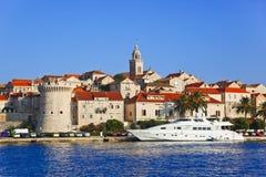 Ciudad Korcula en Croatia fotografía de archivo