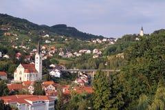 Ciudad Krapina Foto de archivo libre de regalías