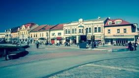 Ciudad Liptovsky Mikulas, Eslovaquia Foto de archivo libre de regalías