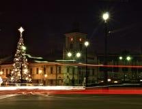 Ciudad Lodz 2 de la Navidad Fotografía de archivo