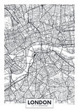 Ciudad Londres del mapa del cartel del vector