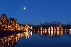Ciudad los E.E.U.U. de la Navidad Imágenes de archivo libres de regalías