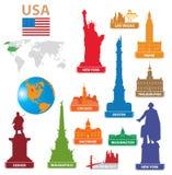 Ciudad los E.E.U.U. de los símbolos ilustración del vector