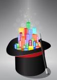 Ciudad mágica Foto de archivo libre de regalías