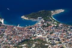Ciudad Makarska Fotos de archivo