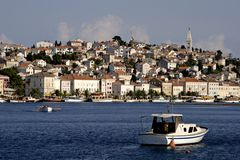 Ciudad Malí Losinj, Croatia Fotografía de archivo