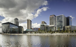 Ciudad Manchester de los media fotografía de archivo