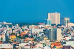 Ciudad marítima tropical, borrosa Fotografía de archivo libre de regalías