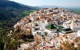 Ciudad Marruecos Moulay Idris Fotos de archivo libres de regalías