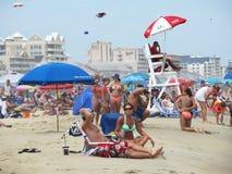 Ciudad Maryland del océano en julio Foto de archivo libre de regalías