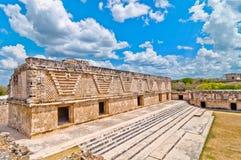 Ciudad maya antigua de Uxmal, Yucatán, México foto de archivo