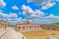 Ciudad maya antigua de Uxmal, Yucatán, México Fotos de archivo libres de regalías