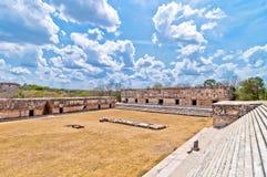 Ciudad maya antigua de Uxmal, Yucatán, México fotografía de archivo