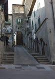 Ciudad medieval de Abbadia San Salvador Imagen de archivo libre de regalías