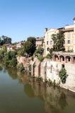 Ciudad medieval de Albi en Francia Imagenes de archivo