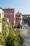 Ciudad medieval de Albi en Francia Imagen de archivo