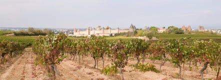 Ciudad medieval de Carcasona imagen de archivo libre de regalías