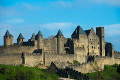 Ciudad medieval de Carcasona Foto de archivo
