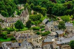 Ciudad medieval de Durbuy, Wallony, Beligium Imagen de archivo libre de regalías