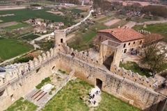 Ciudad medieval de FrÃas en Burgos, Castilla y León españa Fotos de archivo
