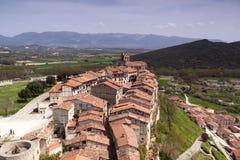 Ciudad medieval de FrÃas en Burgos, Castilla y León españa Imagen de archivo libre de regalías