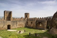 Ciudad medieval de FrÃas en Burgos, Castilla y León españa Imagen de archivo