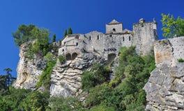 Ciudad medieval de la Vaison-La-lechuga romana Foto de archivo libre de regalías