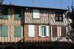 Ciudad medieval de Mirepoix Imágenes de archivo libres de regalías