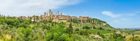 Ciudad medieval de San Gimignano, Toscana, Italia foto de archivo libre de regalías